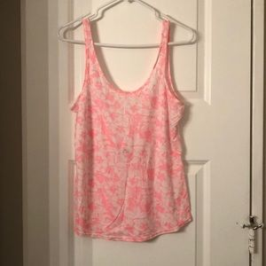 NWT Pink floral tank